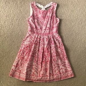 Sandra Darren Red and White Party Dress